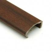 Профиль накладной С-16 жесткий декор махагон 2,8м