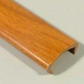 Профиль накладной С-16 жесткий декор вишня красная 2,8м