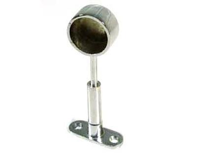 R50A /R крепеж для трубы D=25 односторонний дистанционный хром