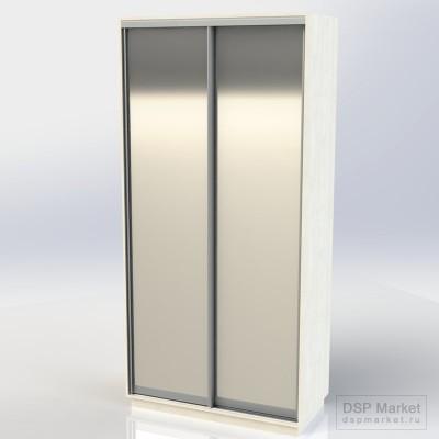 Шкаф-купе 2500х1200х600, 2 двери зеркало