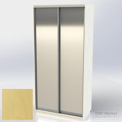 Шкаф купе двухдверный клён медисон