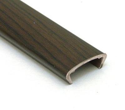 Профиль накладной С-16 жесткий декор дуб венге 2,8м