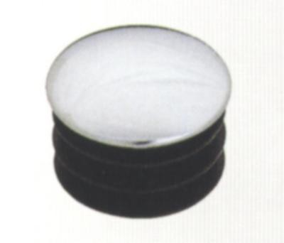 R17(GP8) заглушка плоская для трубы D=25 пластик/хром