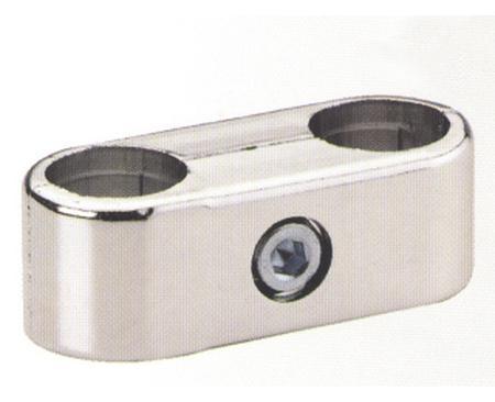 R55 (GT2) крепеж параллельный 2-х труб хром