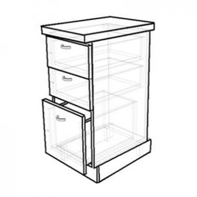 Кухонный стол с тремя ящиками