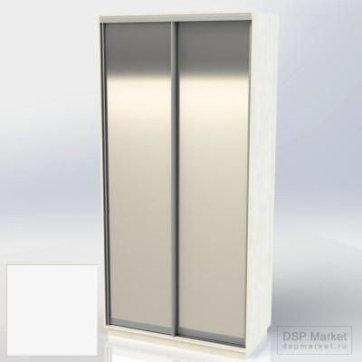 Шкаф купе двухдверный белый