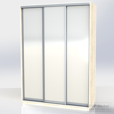 Шкаф-купе 2500х1800х600, 3 двери зеркало