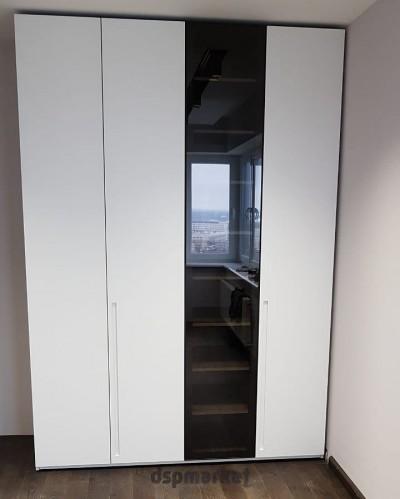 Шкаф из МДФ комбинированный со стеклом